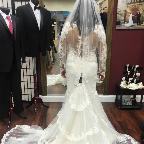 Justine Alexander Fit Flare Wedding Gown | Poshmark
